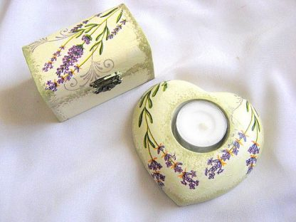 Cadouri tehnica servetel set cutie si suport lumanare 25673