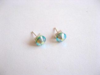 Cercei culoare albastru deschis cu cristale Swarovski 23972.