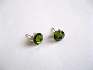 Cercei culoare verde cu cristale Swarovski 2405