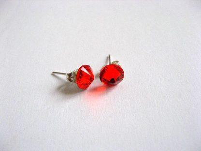 Cercei culoare rosie cu cristale Swarovski 24222.
