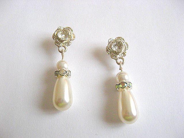 Cristale si perle Mallorca, pereche cercei