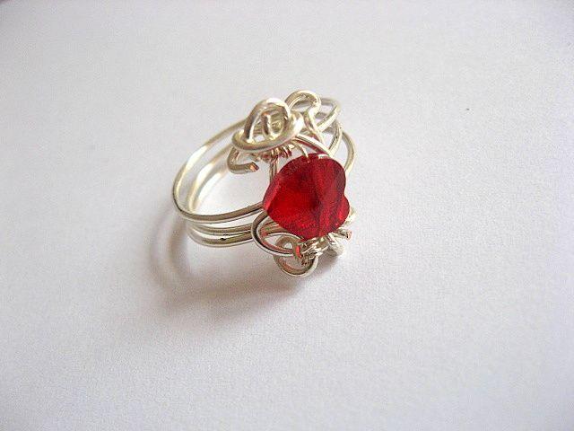 Inel culoare rosie cristal Swarovski 24577