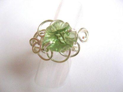 Inel culoare verde deschis cristal Swarovski 24138