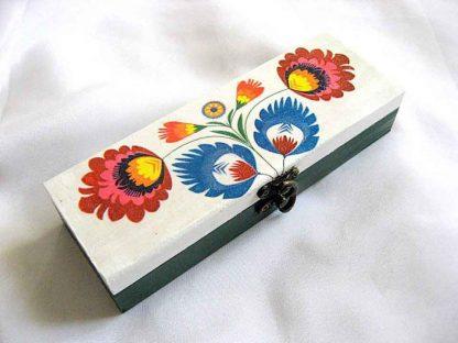 Cutie cu motive florale, cutie lemn motive traditionale romanesti 28141