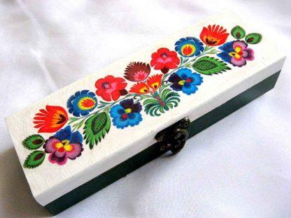 Cutie lemn motive florale traditionale romanesti 28134