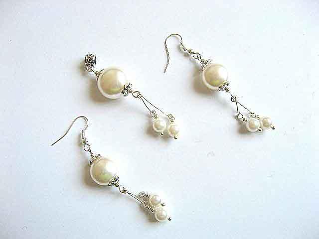 Perle Mallorca perle mari si mici set pandantiv si cercei 22574