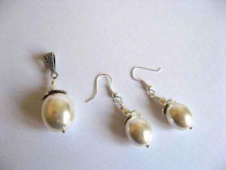 Perle naturale set pandantiv si cercei 19648
