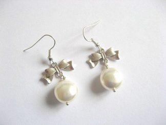 Cercei pentru mireasa din perle Mallorca 21437