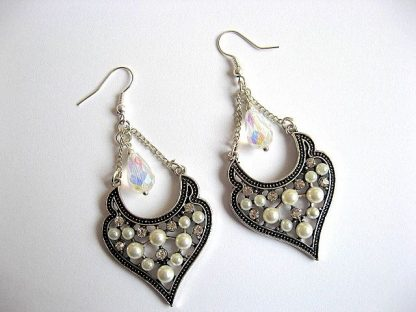 Cercei pentru mireasa cu perle si cristale 23062