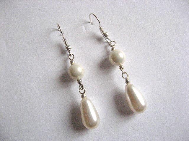 Cercei mireasa din pietre Swarovski si perle Mallorca 25463