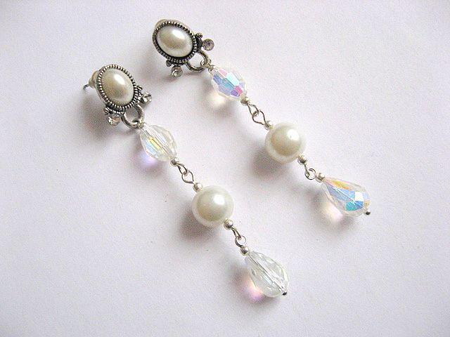 Cercei mireasa din perle sticla 25961
