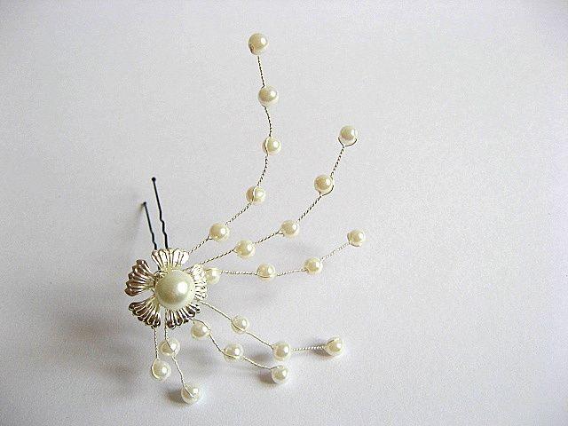 Ac par accesoriu decorativ mireasa, accesoriu nunta perle si cristale 20314