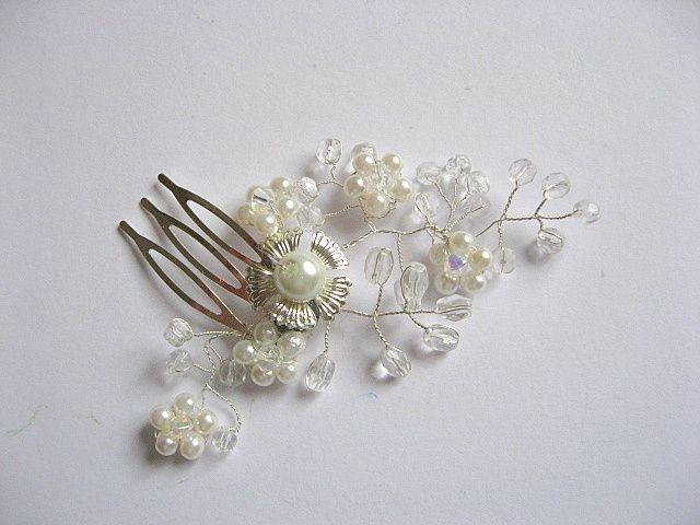 Ac / pieptene par accesoriu mireasa, accesoriu decorativ nunta 20299