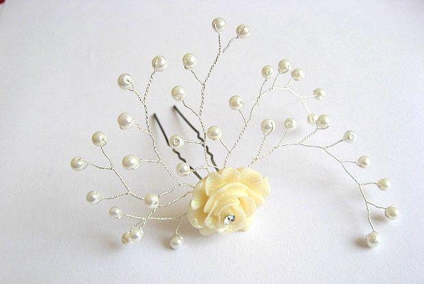 Accesorii ac mireasa, produs nunta, rasina si perle sticla 22826