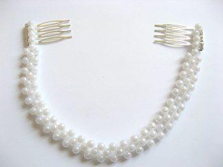 Coronita perle artificiale mireasa, coronita nunta 27272