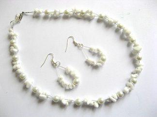 Margele si perle de sticla set colier si cercei 16447