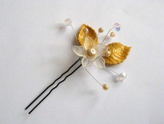 Produs nunta ac mireasa, perle sticla, cristale, fimo 27529