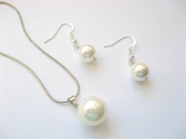 Set mireasa cu perle Mallorca 11009