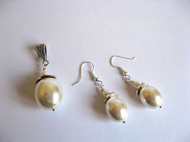 Set mireasa din perle naturale 19648