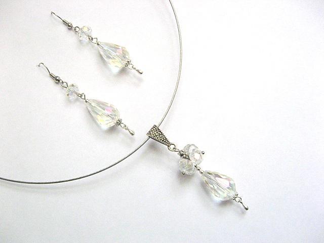 Set mireasa cristale si colier fin 13289