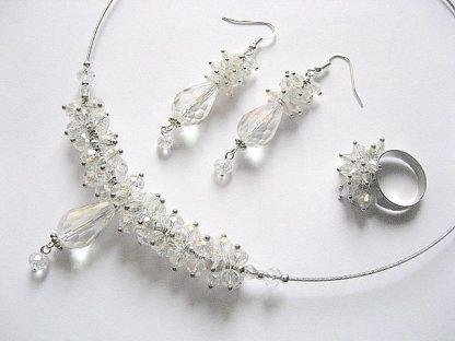 Set mireasa cu cristale din Cehia 13286