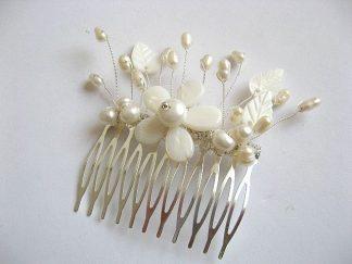 Pieptan pentru mireasa cu floare sidef 22704