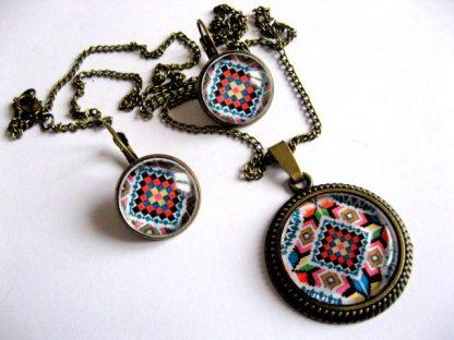 Bijuterii model traditional, bijuterii set lucrat manual femei 28336