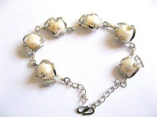 Bratara perle naturale si strasuri, nu e o bratara handmade 28630