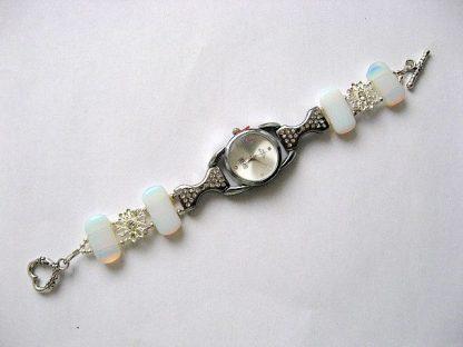 Bratara si ceas bijuterie femei piatra lunii si cristale 18124