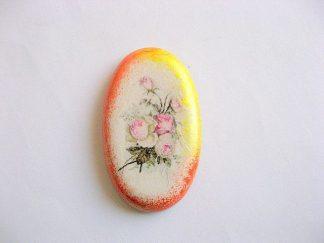 Buchet de trandafiri roz, magnet frigider din ipsos 25267