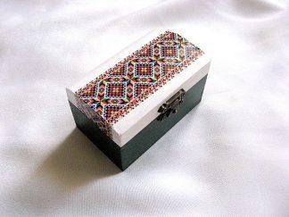 Cutie lemn decorata cu orez lucrata cu motive traditionale 28550