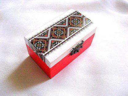 Cutie motive populare autentice, cutie lemn bijuterii femei 28552