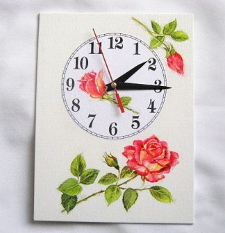 Design ceas de perete trei trandafiri, unul imbobocit si doi infloriti 27599