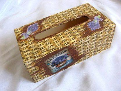 Design nuiele de rachita si lavanda cutie servetele 28013