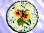 Floarea soarelui pe fond de epoca ceas de perete cu cifre arabe 28092