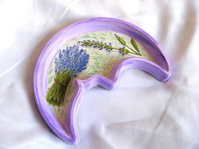Flori de lavanda platou ipsos culori albastru, verde si mov 22244