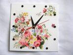 Model ceas de perete narcise, trandafiri, albastrele, flori de cires 27596