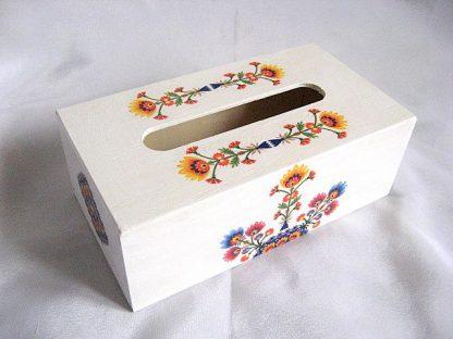 Model de flori simple in culori vii, cutii servetele hartie 27954