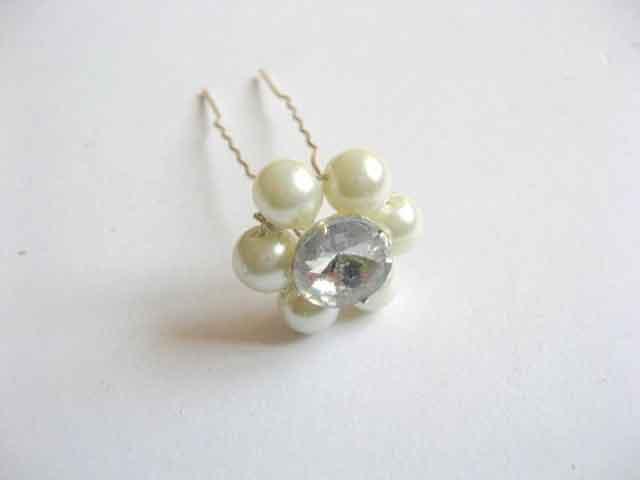 Ac de mireasa cu stras si perle de sticla cod 22770