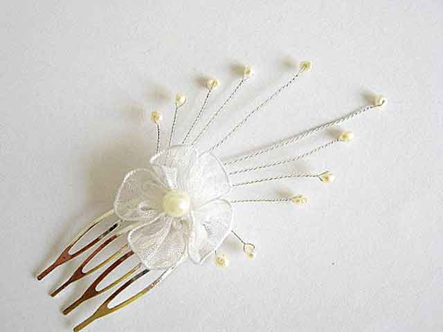 Ac par mireasa, accesoriu nunta, ac nunta lucrat manual cu perle model 20368