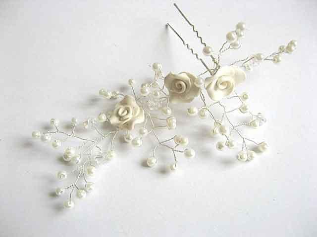 Accesoriu nunta, ac mireasa perle sticla si cristale cod 22759