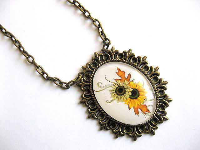 Colier cu pandantiv floarea soarelui 28459