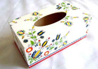 Cutie lemn servetele hartie cu motive traditionale romanesti 28652