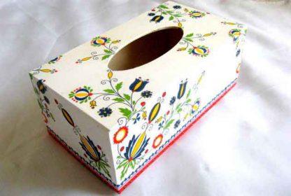 Cutie lemn servetele hartie cu motive traditionale romanesti 28652 poza a 2a