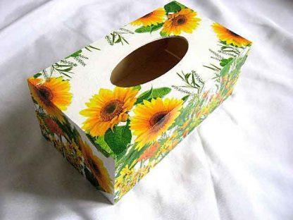 Cutie servetele hartie model floarea soarelui, model cod 28740