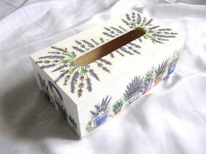 Ghivece flori lavanda si flori de lavanda, cutie servetele hartie 28759
