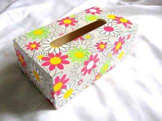 Model flori stilizate colorate si mai putin colorate cutie servetele hartie 28758.