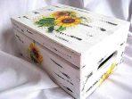 Cutie floarea soarelui, cutie lemn cu design de floarea soarelui 23941