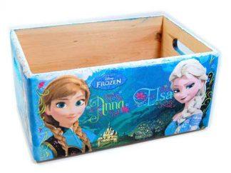 Desene Frozen, printese Anna, Elsa si Olaf ladita lemn, ladita transport 7303