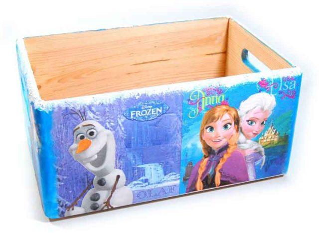 Desene Frozen, printese Anna, Elsa si Olaf ladita lemn, ladita transport 7303 poza a 3a